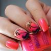 Glam polish hopelessly devoted sunset nail art 2