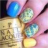 Blue and yellow opi