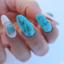 Md turqoise nail art