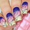 Ladyqueen stamping nail art jq l18