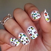 Neon leopard print nail art  4
