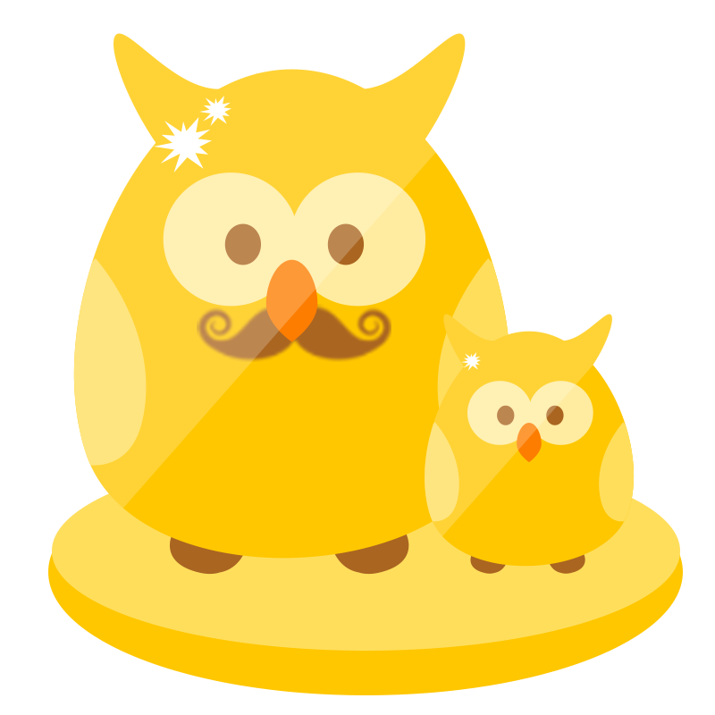 "Limited Edition ""Father & Child Owls"" Contest Trophy"