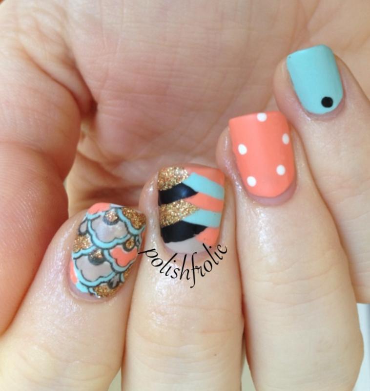 Advanced Nail Art: Advanced Stamping Skittlette Nail Art By Anna