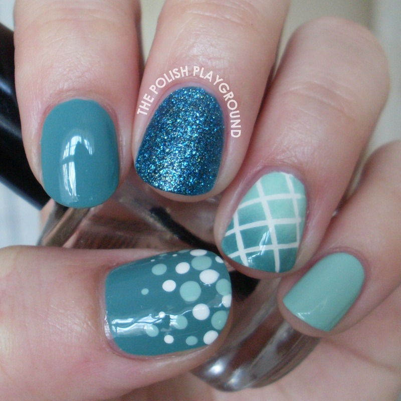 Blue And Green Skittle Nail Art By Lisa N