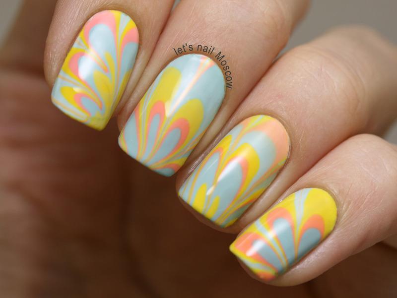 summer water marble nail art nail art by Let39;s Nail Moscow ...