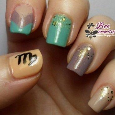 Zodiac - Virgo nail art by Isabella