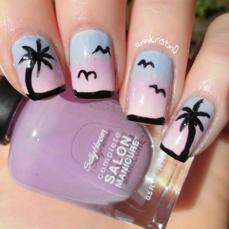 Soft Sunset nail art by Ann-Kristin