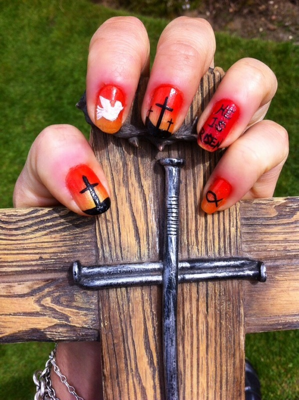 Easter crucifixion.... nail art by Charlotte Speller - Nailpolis ...