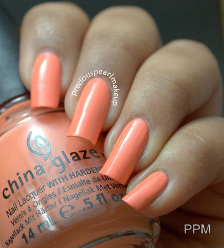 China Glaze Peachykeen Swatch by Pearl P.