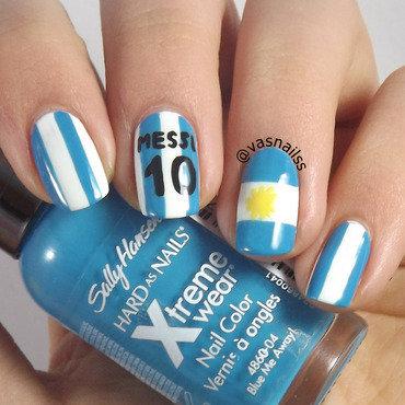 Argentina nail art by  Vanesa