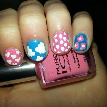 Simple Mix and Match nail art by jessicabh_