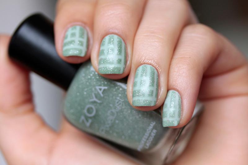 Mint Tape Nail Art For Talia nail art by Yulia