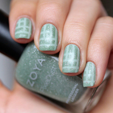 Mint Tape Nail Art For Talia nail art by Yulia