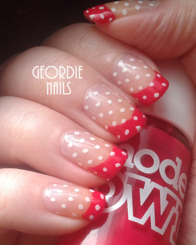 Geordie Nails nail art by Lisa