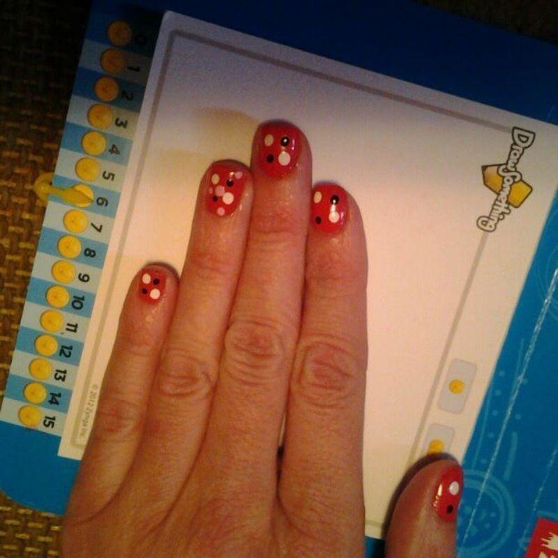 Dots nail art by Sarah