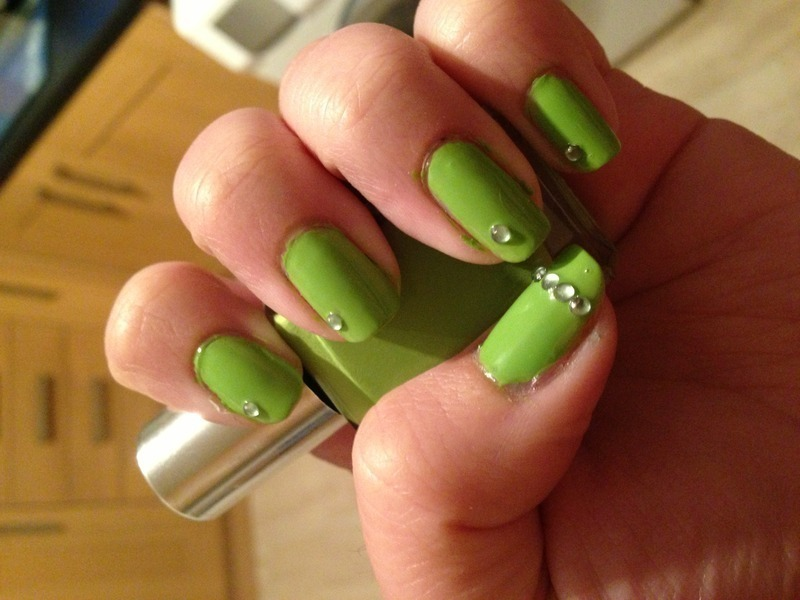 Peridot Nail Art nail art by Rachel