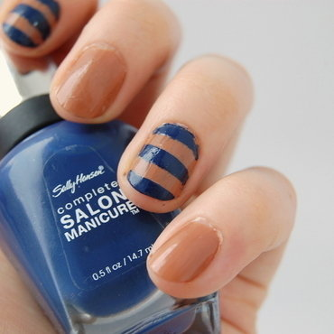 nautical navy nail art by Natasha