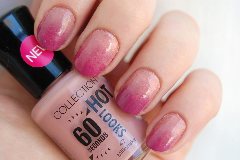 dusty rose nail art by Natasha