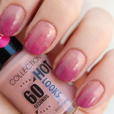 dusty rose nail art by Natasha