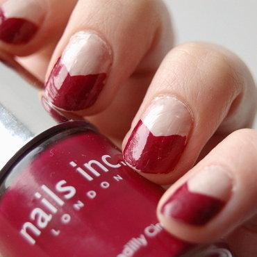 pink chevron nail art by Natasha