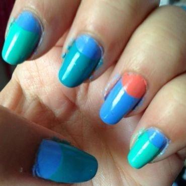Summer Half-Moons nail art by Rachel