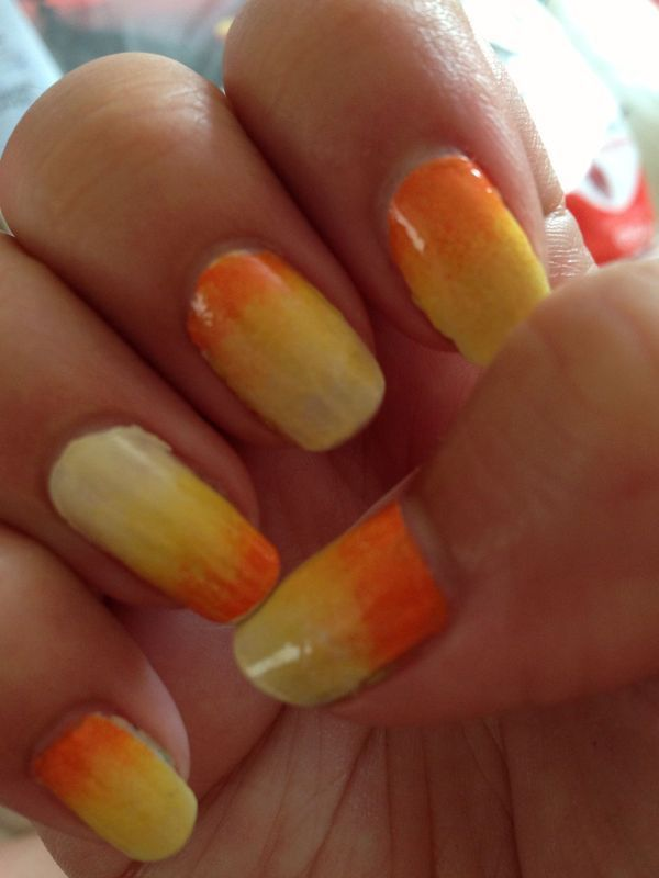 Summer Gradient nail art by Rachel