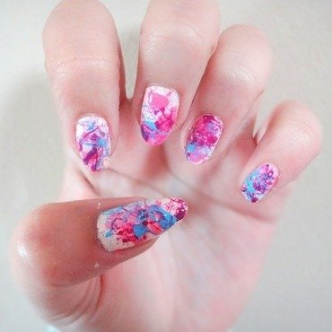 Splatter nails nail art by Olivia McHale