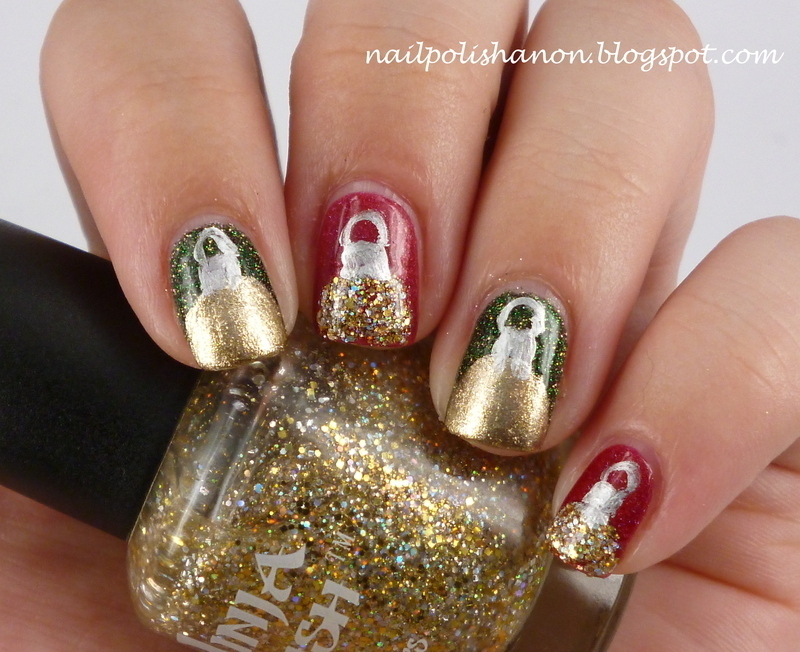 Christmas Baubles nail art by NailPolishAnon