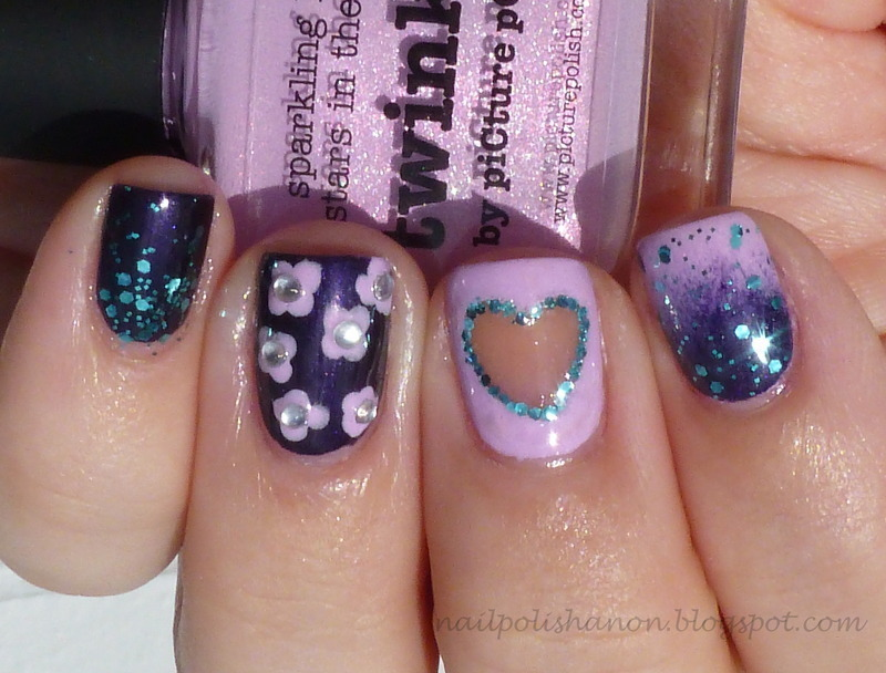 piCture pOlish Blogfest 2013 nail art by NailPolishAnon