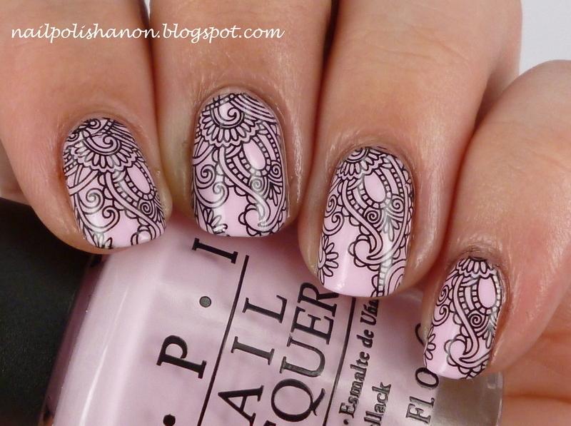 Paisley nail art by NailPolishAnon