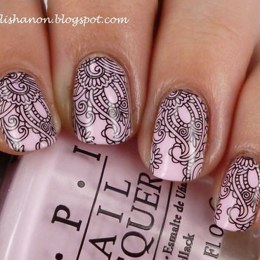 Paisley nail art by NailPolishAnon