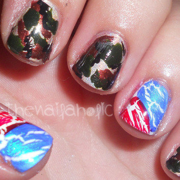 the patriot nail art by Katie