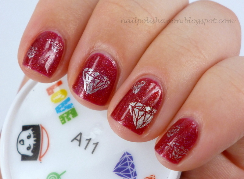 Diamonds Are A Girl's Best Friend nail art by NailPolishAnon