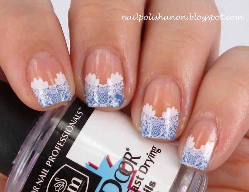 French Lace nail art by NailPolishAnon