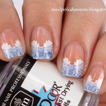 French Lace nail art by NailPolishAnon