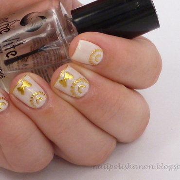 Golden Half Moons nail art by NailPolishAnon