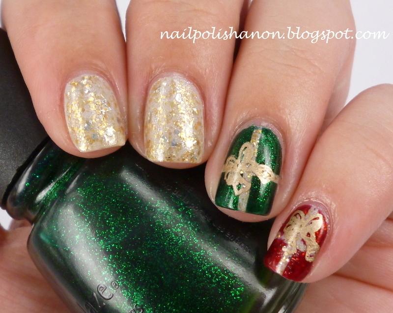 Christmas Presents nail art by NailPolishAnon