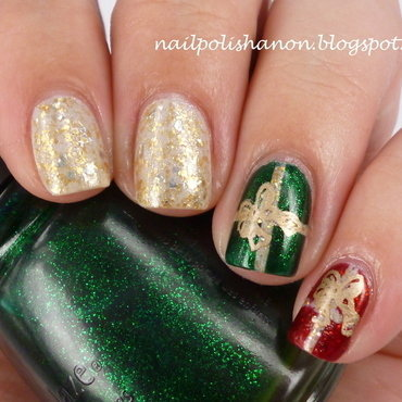 Christmas Presents nail art by NailPolishAnon