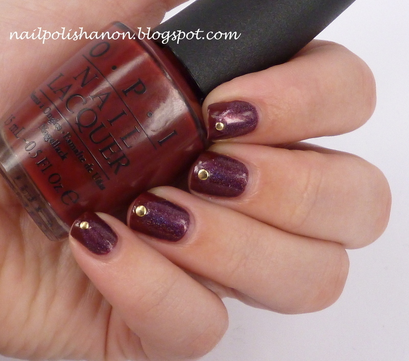 Wine French nail art by NailPolishAnon