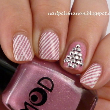 Pink Candy Cane Christmas Tree nail art by NailPolishAnon
