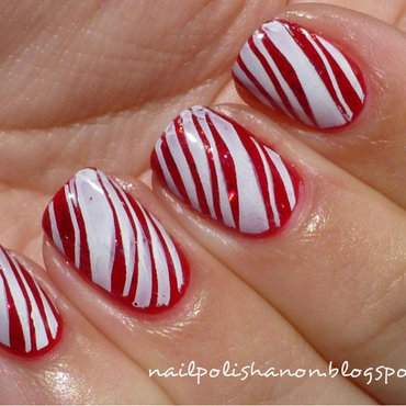 Candy Canes nail art by NailPolishAnon