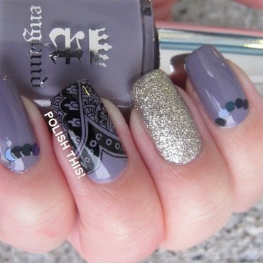 Skittlette with a-england Guinevere nail art by Annie