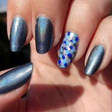 Holographic scale nails nail art by Olivia McHale