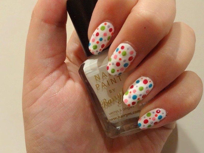 Seeing spots! nail art by Olivia McHale