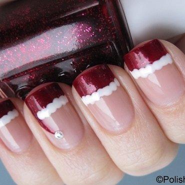 Santa Hat nail art by Danny