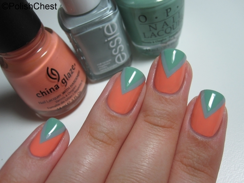 Maximillian, a Mermaid and a Peach nail art by Danny