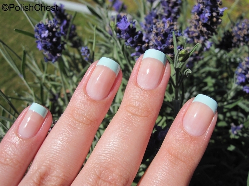 Mint French nail art by Danny
