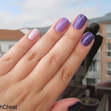 Purple Ombre nail art by Danny