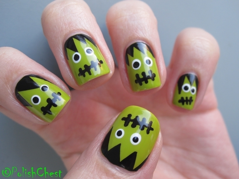 Frankenstein nail art by Danny