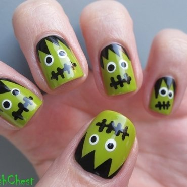 Frankenstein nail art by Danny
